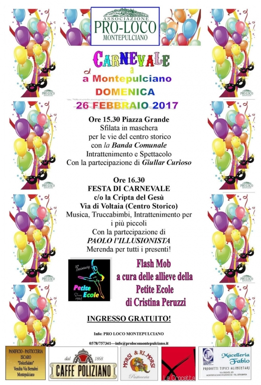 Carnevale 2017 a Montepulciano