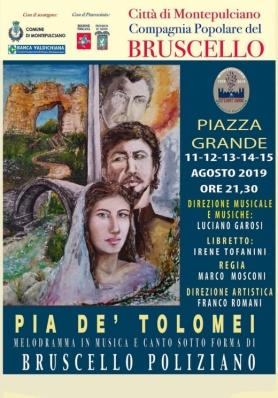 """Bruscello Poliziano - 80 anni - """"Pia de' Tolomei"""