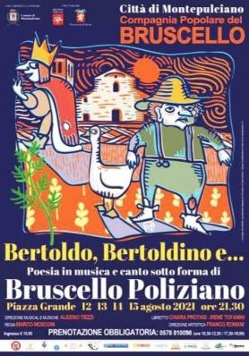 Bruscello Poliziano edizione 2021