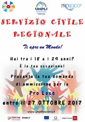 Nuovo Bando Servizio Civile  - Scadenza 27 ottobre 2017