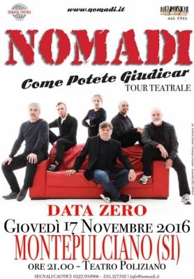 I NOMADI A MONTEPULCIANO - GIOVEDÌ 17 NOVEMBRE 2016
