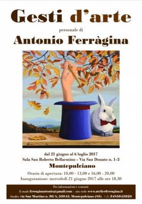 Mostra Gesti d'arte - Personale di Antonio Ferràgina