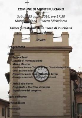 Inaugurazione restauro Torre di Pulcinella - Sabat ...