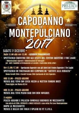 Capodanno a Montepulciano 2017