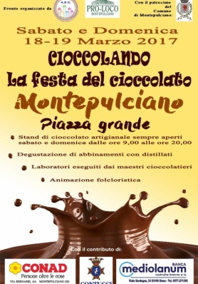 Cioccolando a Montepulciano - II Edizione - 18 e 19 Marzo 2017