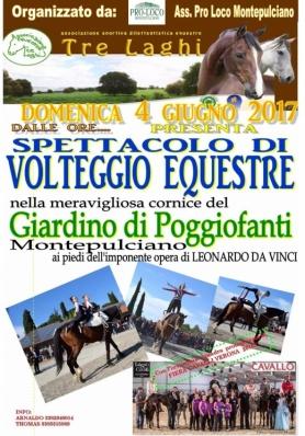 Spettacolo di Volteggio Equestre - Giardino di Poggiofanti
