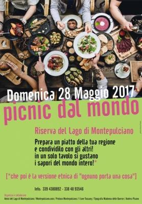 PICNIC DAL MONDO - Domenica 28 Maggio 2017 - Riserva del Lago di Montepulciano