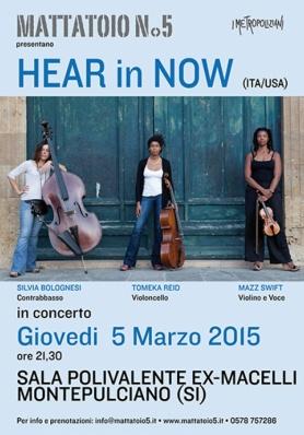 Concerto di HEAR In NOW - Giovedi 5 Marzo 2015 - M ...