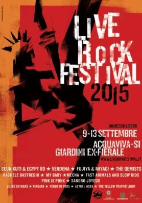 Live Rock Festival: line-up prestigiosa  per la 19 ...