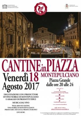 """""""Cantine in Piazza"""": il Vino Nobile di Montepulciano è protagonista dell'estate"""